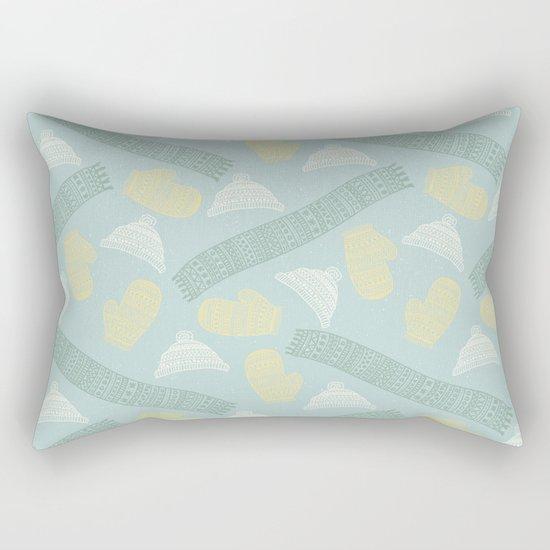 Merry Christmas- Winter fun pattern Rectangular Pillow