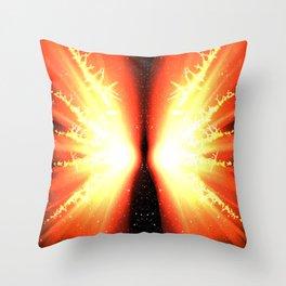 Fire Butterfly Throw Pillow