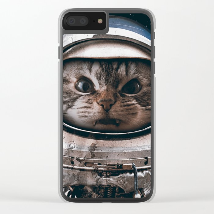 Space catet Clear iPhone Case