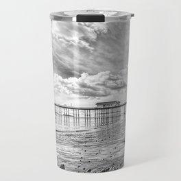 Penarth Pier Morning Light 2 Monochrome Travel Mug