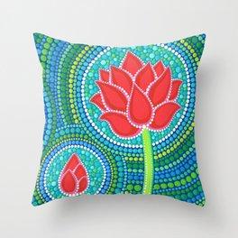 Lotus Family of 3 Throw Pillow