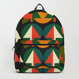 Retro Christmas trees Backpack