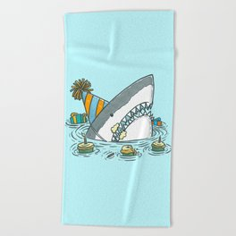 Birthday Shark II Beach Towel