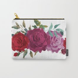 Floral Banner Carry-All Pouch