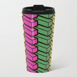 colorful abstract cube pattern Travel Mug