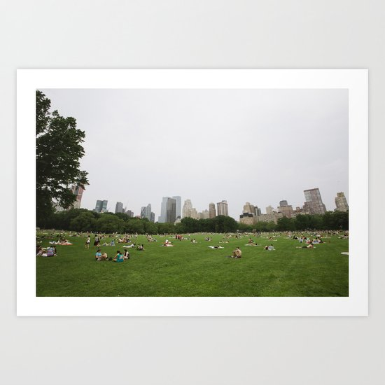 Sheep Meadow, Central Park, NYC Art Print