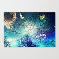 night sky Canvas Prints featuring night sky by Sylvia Cook Photography