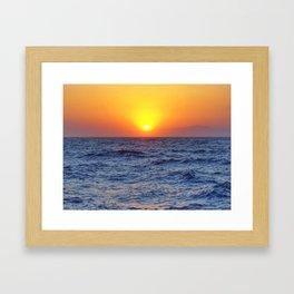 Aegean Crossing Framed Art Print