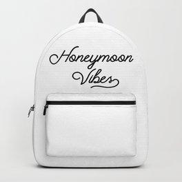 Honeymoon Vibes Newlywed Design Backpack