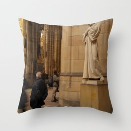 Statue of Christ in St Vitus Cathedral  Throw Pillow