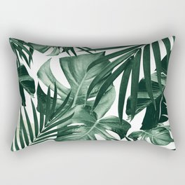 Tropical Jungle Leaves Pattern #4 #tropical #decor #art #society6 Rectangular Pillow