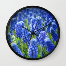 Blue Hyacinths Wall Clock