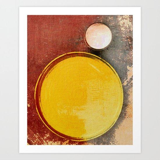 Kuaray and Jacy (Sun and Moon) Art Print