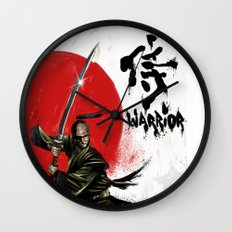 Samurai Warrior Wall Clock