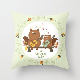 a special day Throw Pillow