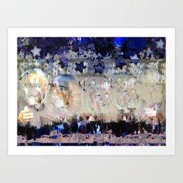 Glitch Obama Art Print