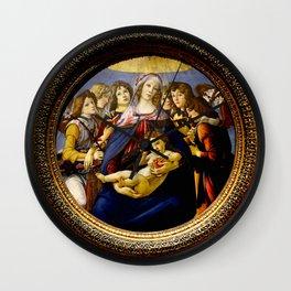 """Sandro Botticelli """"Madonna of the Pomegranate (Madonna della Melagrana)"""" Wall Clock"""