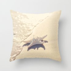 Sunlight Starfish Throw Pillow