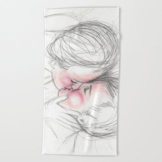 blushing kiss Beach Towel
