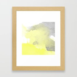 Yellow and Gray Ombre Watercolor  Framed Art Print