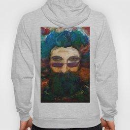 Jerry Garcia Watercolor Portrait Grateful Dead Hoody