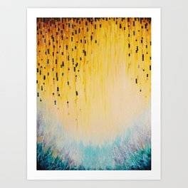 MYSTIC GARDEN Lovely Fairy Land Abstract Painting Acrylic Fine Art Winter Colorful Fantasy Magical Art Print