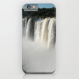 Iguazu Iguassu Waterfall Landscape Panorama Scenery Mist, Brazil Argentina iPhone Case