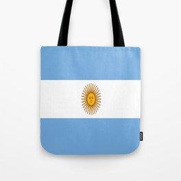 Flag Of Argentina Tote Bag