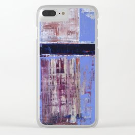 Chagrin Cornflower Blue Abstract Painting Modern Art Clear iPhone Case