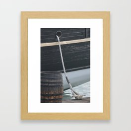 Barrel Ship and Cleat Framed Art Print