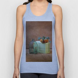 Still life with handmade pumpkins from felted wool Unisex Tank Top