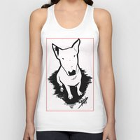 bull terrier Tank Tops featuring bull terrier by sabrina.gennari