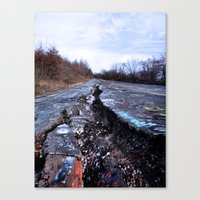 silent hill Canvas Prints featuring Trial Through Silent Hill by Julie Maxwell