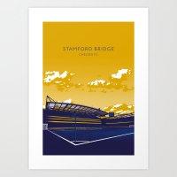 chelsea fc Art Prints featuring Stamford Bridge (Chelsea FC) by IamBlonde