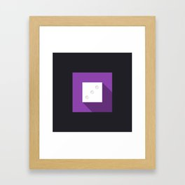 """Dice """"three"""" with long shadow in new modern flat design Framed Art Print"""