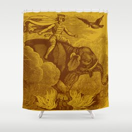 The Occult Golden Elephant Shower Curtain