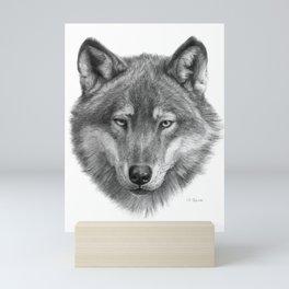 Wolf face G084 Mini Art Print