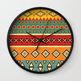 Barefooted in sarong Wall Clock