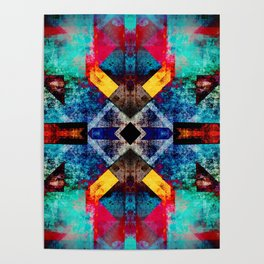 Bright southwestern pattern design Poster