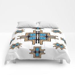 aztec cross mandala Comforters