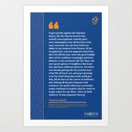 #WhoIsMuhammad – Thomas Carlyle Art Print