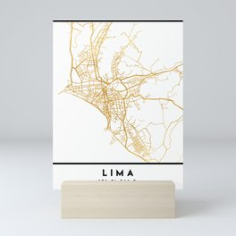 LIMA PERU CITY STREET MAP ART Mini Art Print