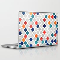 spice Laptop & iPad Skins featuring Sea & Spice Moroccan Pattern by micklyn