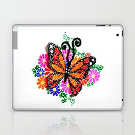 Orange Butterfly Laptop & iPad Skin