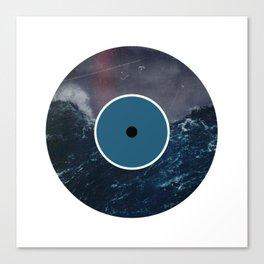 Vinyl Record Art & Design | Stormy Ocean Canvas Print