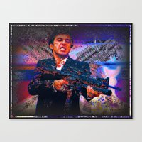 scarface Canvas Prints featuring scarface by Vector Art