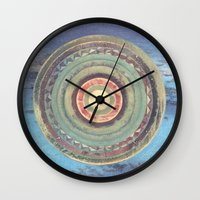 holiday Wall Clocks featuring Holiday by Laurie McCall