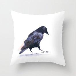 Crow #2 Throw Pillow