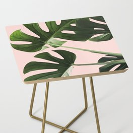 Monstera x Pink Side Table