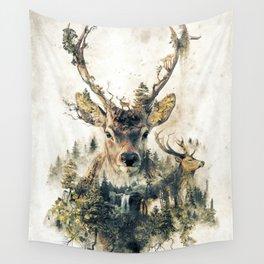 Deer Surrealism Wall Tapestry